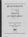 Wooden Artifacts Group Postprints Vol. 17 (2003) Electronic